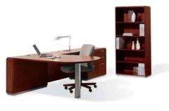 cherry desk bookcase